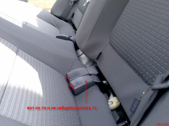 снятие заднего сидения ниссан альмера классик