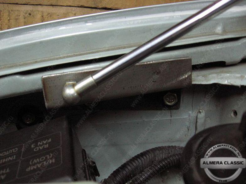 пневноупор на капот ниссан альмера классик