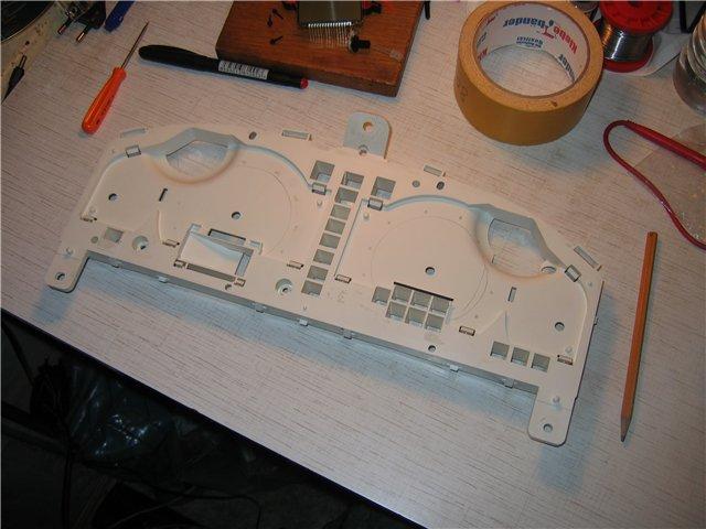 Установка светодиодов в приборную панель Ниссан Альмера N16